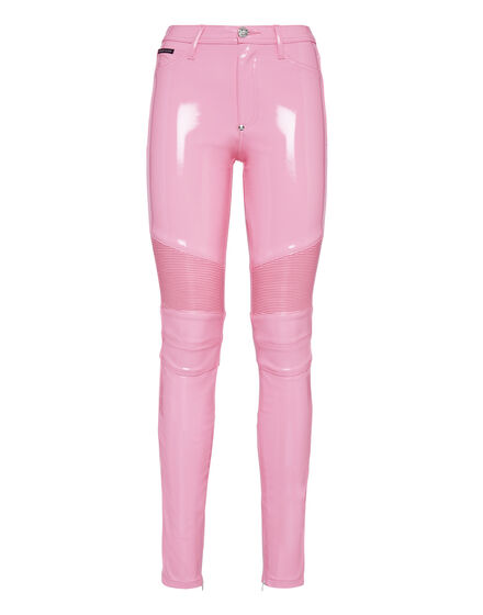 High waist Biker Trousers Pink paradise