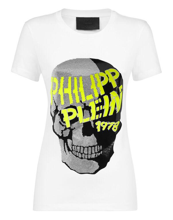 Philipp Plein ssskul Large Noir SS Cristal T-Shirt Authentique BNWT
