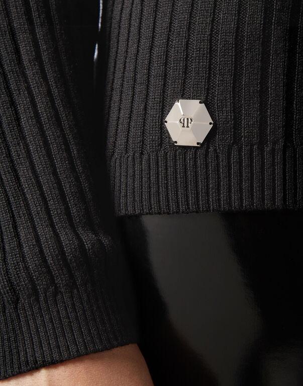 Pullover Round Neck LS Crystal Plein