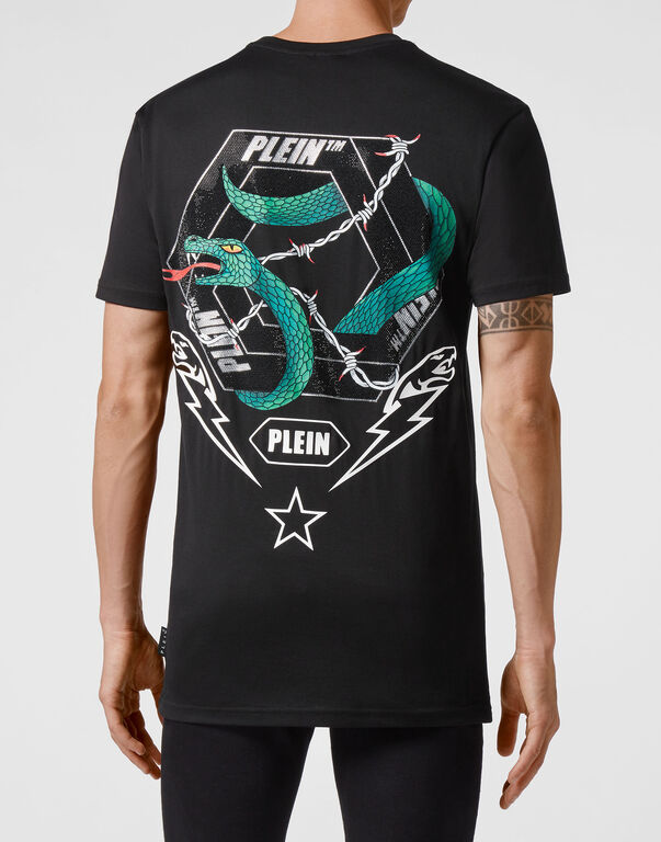 T-shirt Round Neck SS stones Snake