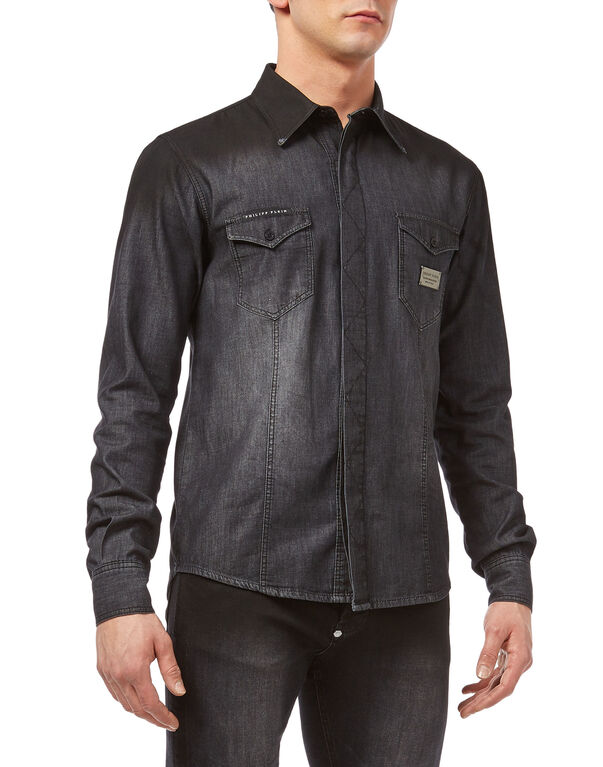 "Denim Shirt Ls ""Sign"""