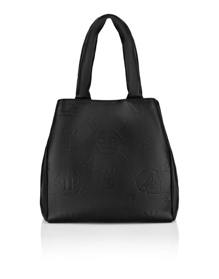 Leather Handle bag Embossed Monogram