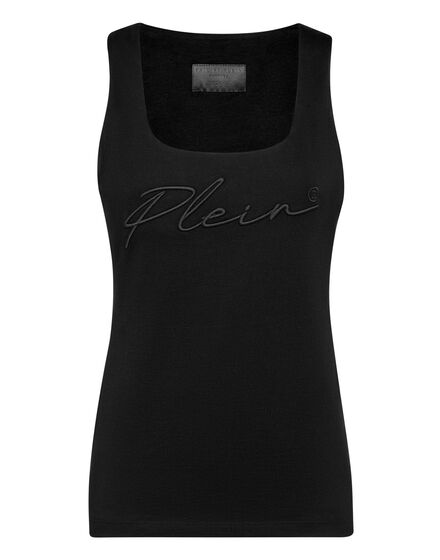 Leisurewear Tank top Embroidery Signature