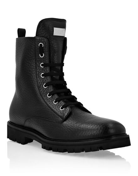 Leather Boots Low Flat stars Studs