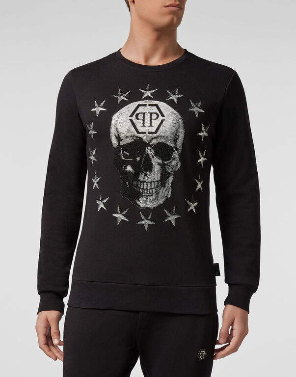 Sweatshirt LS Stars and skull