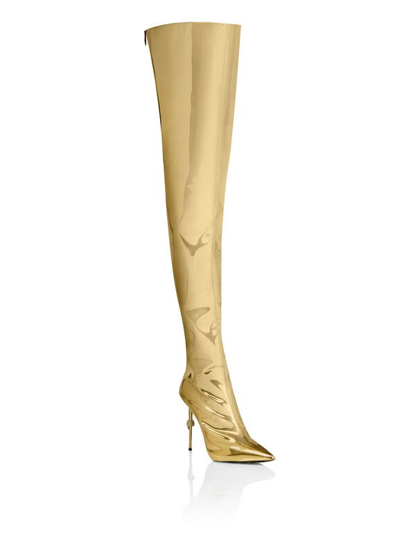 Bootie high heels Gold