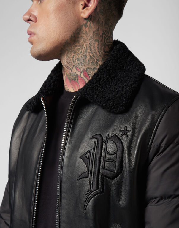 Leather Jacket  Gothic Plein