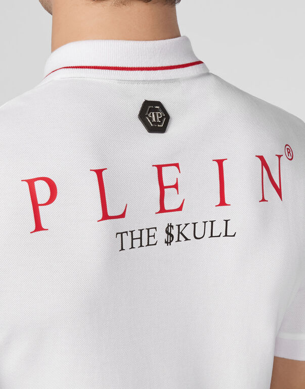 Polo shirt SS Outline  Skull
