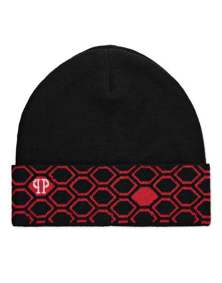 Wool Blend Hat Hexagon