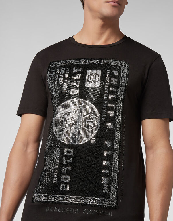 T-shirt Platinum Cut Round Neck Credit card