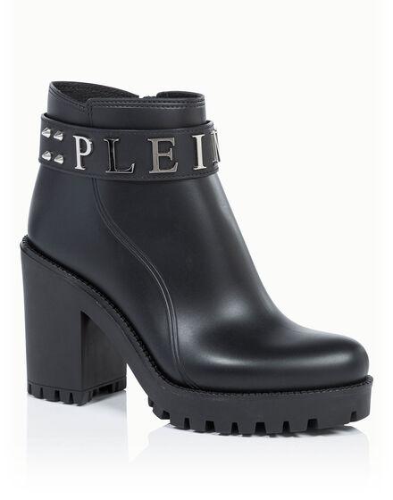 Gummy low heel mid boots calla