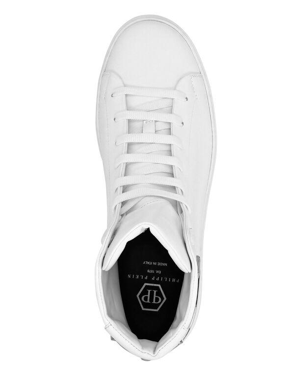 Hi-Top Sneakers Hexagon Stars and skull