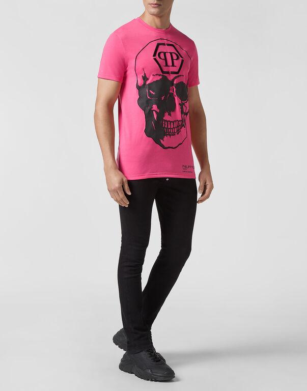T-shirt Platinum Cut Round Neck Pink paradise