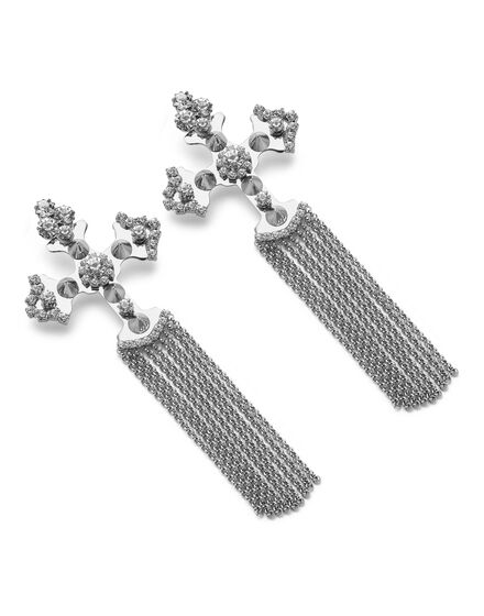 Earring Cross Crystal