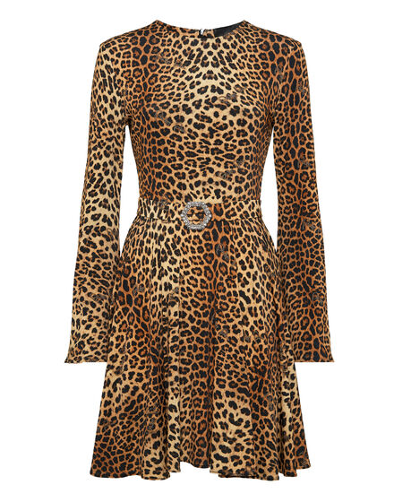 Short Dress Gilda Leopard