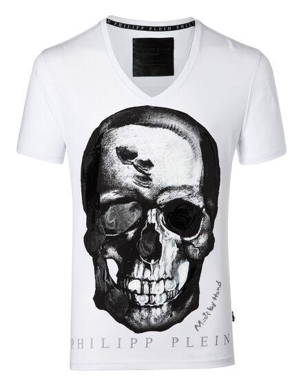T-shirt V Neck SS Paint three