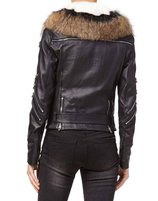 "Leather Biker ""Elegant Fur"""