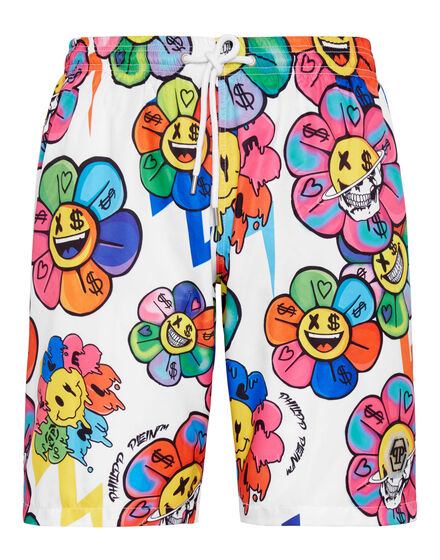 Beachwear Short Trousers Flowers