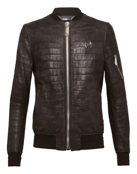 Leather Bomber On Me