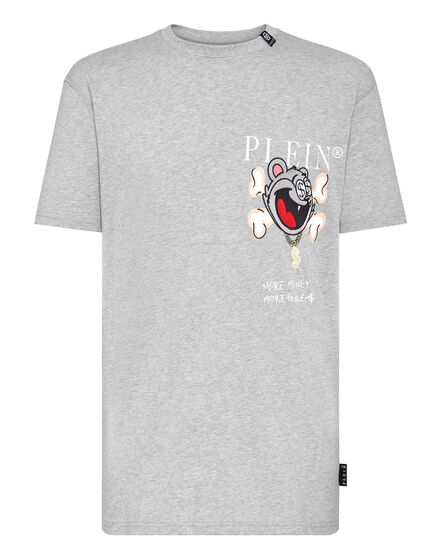 T-shirt Round Neck SS Patch Money