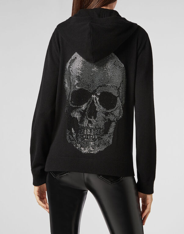 "Knit hoodie ""Sandy Smile Up"" Skull"
