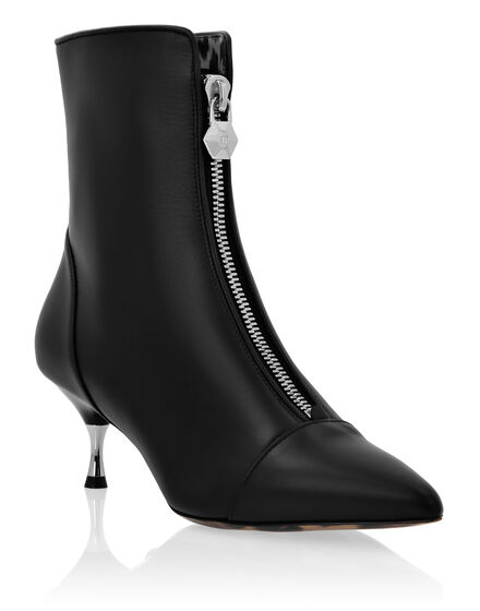 Leather Boots Lo-Heels Low Rock Iconic Plein