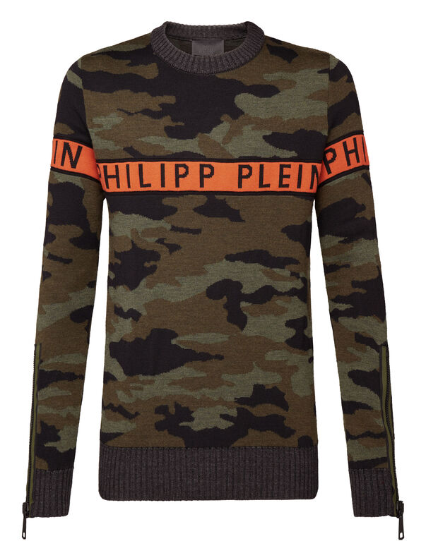 "Pullover Round Neck LS ""Orange line"""