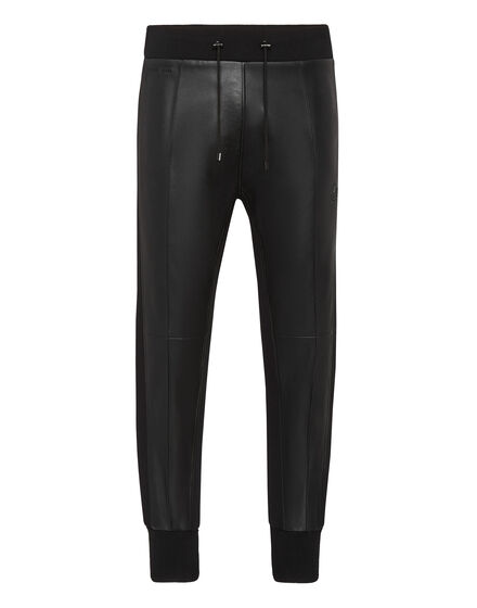Soft Leather Jogging Trousers Iconic Plein