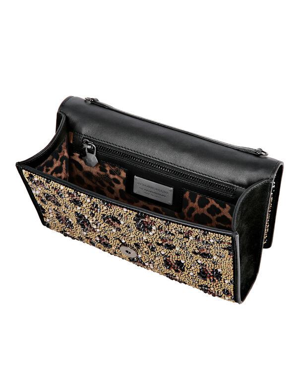 Shoulder Bag crystal Leopard