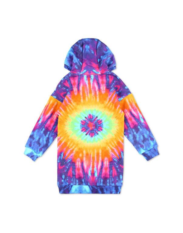 Jogging Hoodie Day Dress Tie dye