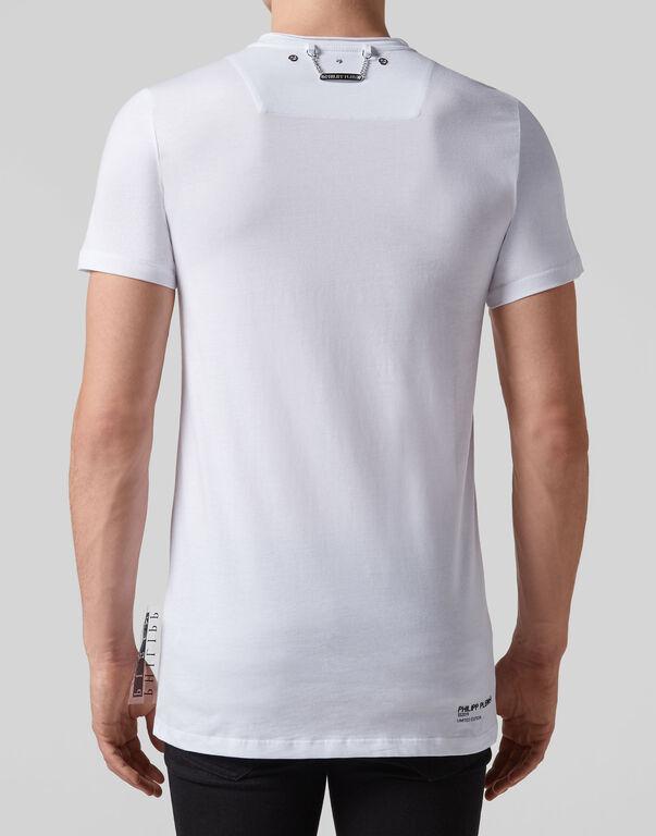 T-shirt Black Cut Round Neck Thunder