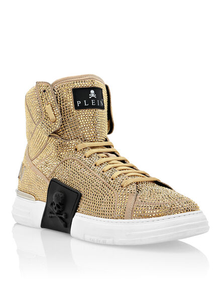 PHANTOM KICK$  Hi-Top Sneakers Gold