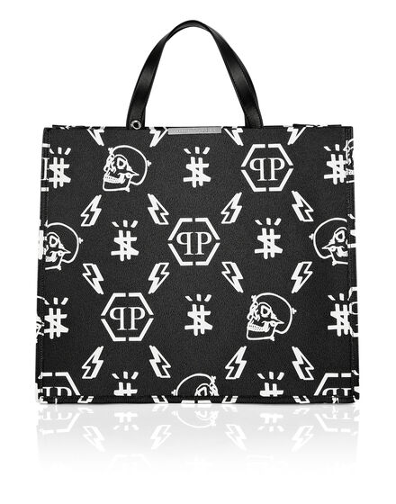 Leather Handle bag print Monogram