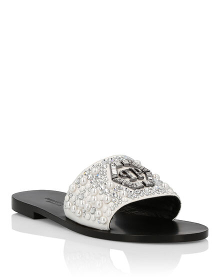 Sandals Flat Crystal