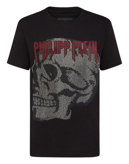 T-shirt Platinum Cut Round Neck Stars and skull