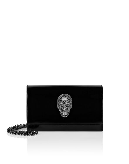 Patent Leather Mini Shoulder Skull