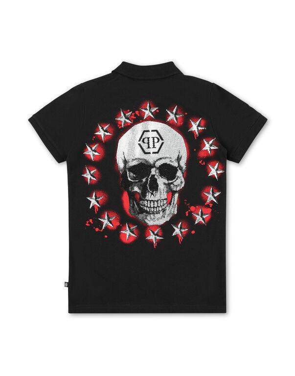 Polo shirt SS Stars and skull