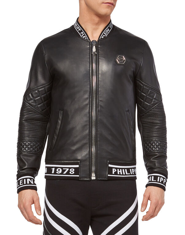 "Leather Bomber ""Mind"""