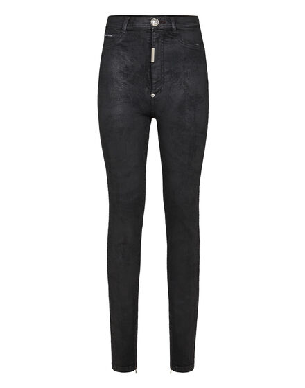 Super High Waist Jegging Crystal Plein