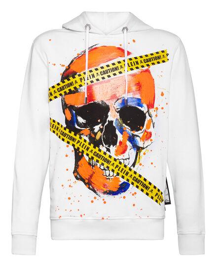Hoodie sweatshirt Warning