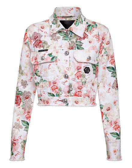 Denim Jacket Flowers
