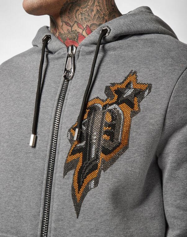 Hoodie Sweatjacket Graffiti