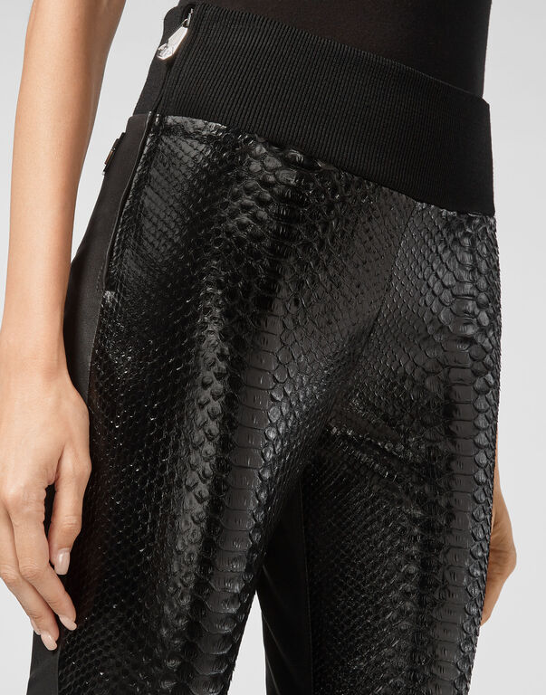 Leather Leggings Crystal