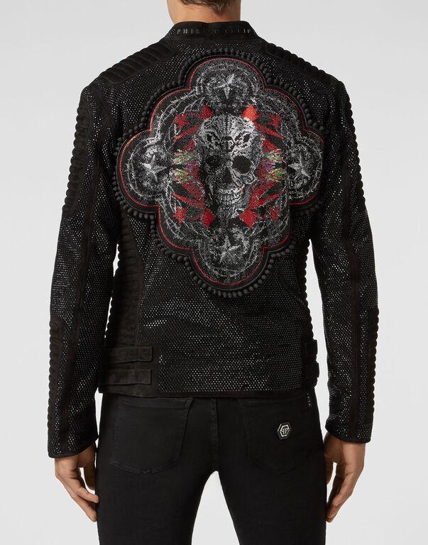 Leather Biker Studs skull