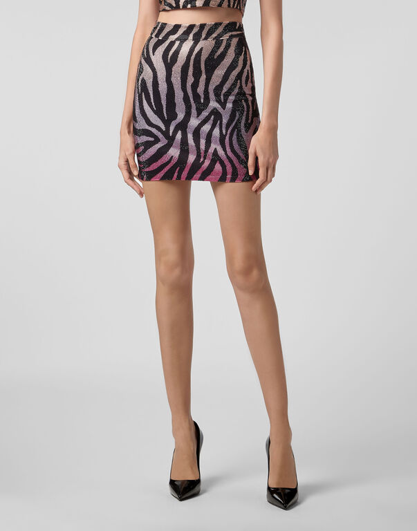 Short Skirt Zebra