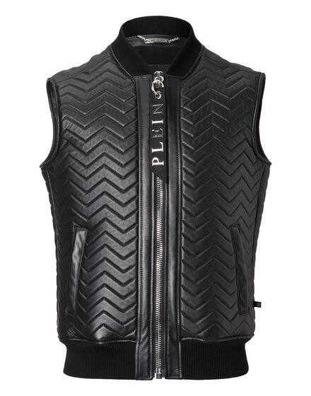 Leather Vest Short Nagakijo