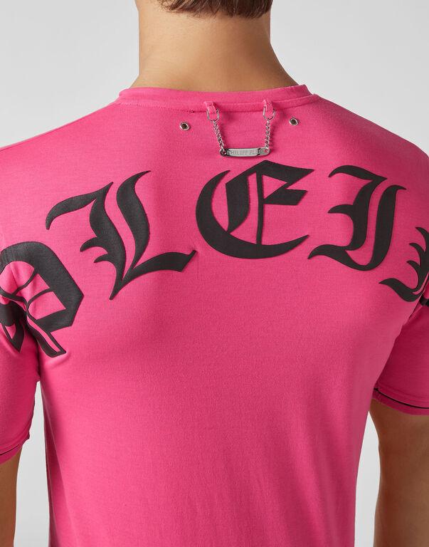 T-shirt V-Neck SS Pink paradise