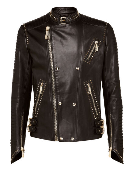 Leather Biker Drive fast