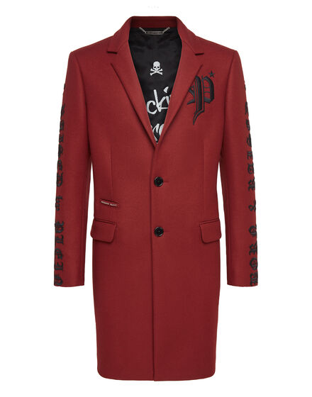 Coat Long embroidered Gothic Plein