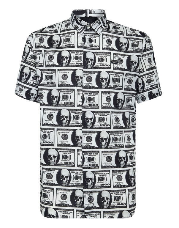 Shirt Crystal cut SS Dollar